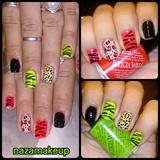 Wild Neon Nail Art