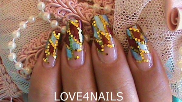 Gold glitter nail art design nail art gallery gold glitter nail art design prinsesfo Image collections