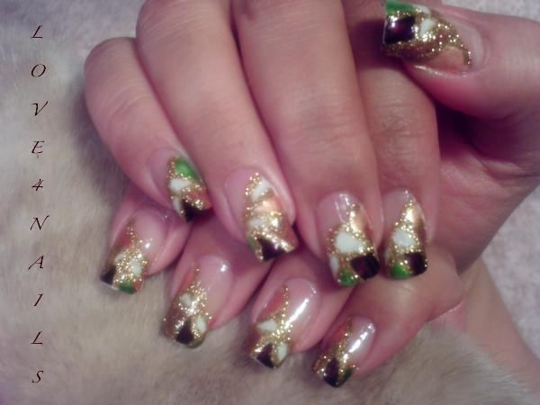 Gold Glitter Nail Art Design Nail Art Gallery