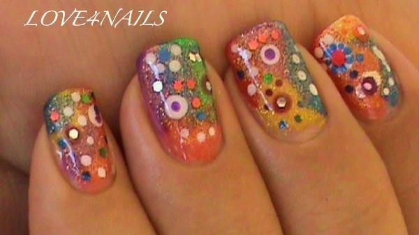 Colorful nail design for short nails nail art gallery colorful nail design for short nails prinsesfo Choice Image