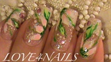 White Flowers on French Manicure
