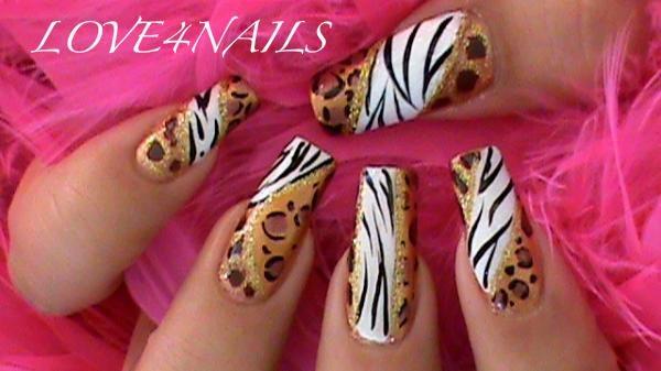 Animal Prints Nail Art Design