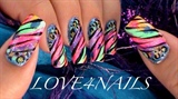 Colorful Animal Prints Nail Art Design