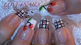 FRENCH MANICURE Cherries & Hearts