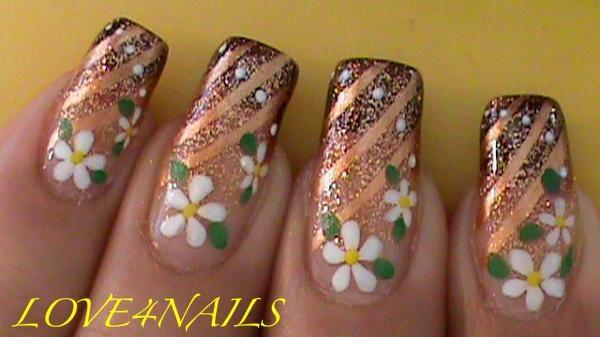 Copper & Brown W/W Spring Daisy Flowers