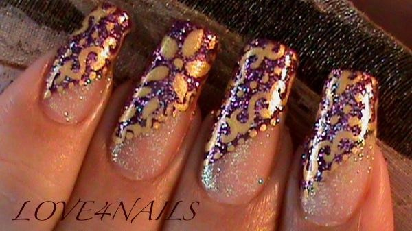 Golden Swirls Dots & Flowers