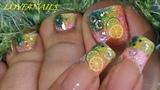 Toe & Finger Nail Art Lemon Lime Fimos