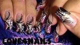 Abstract Nail Art w/ Beads & Rhinestones
