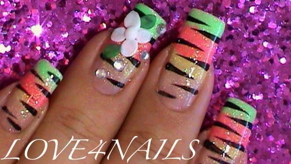 Colorful Animal Prints Nail Art Design