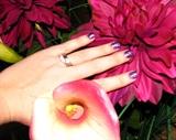 Purple Sparkle Acrylic
