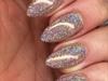 Champagne Glitter Nails