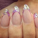 Summer strand glitter tips!!!
