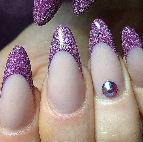 Pink Glitter Tips