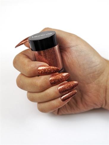 Amber Glitter Nails