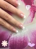White & Pink Gel Nails