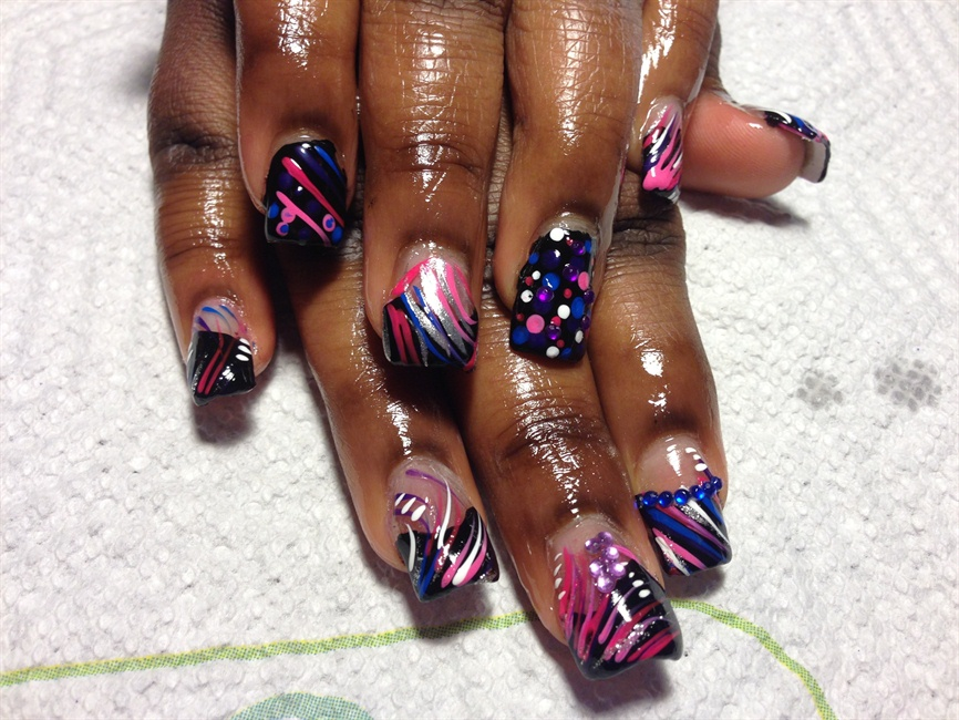 Abstract freestyle - Nail Art Gallery