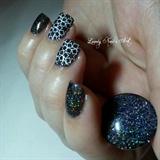 Nail art stamping *étoile blanche*