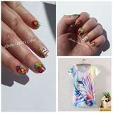 Nail art stamping *zébre color*