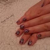 Nail art stamping * fleurs blanche*