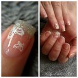 Nail art stamping *papillons