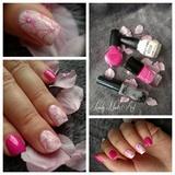 Nail art stamping *fleur*