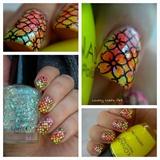 Nail art stamping *fleurs*