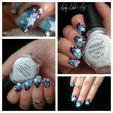nail art stamping *galaxy étoiles *