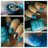 Nail art stamping *femme*