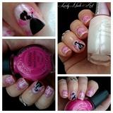 Nail art stamping *princesses*