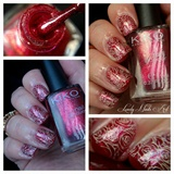 Nail art stamping *roses*