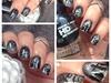 Nail art stamping *cimetiére*