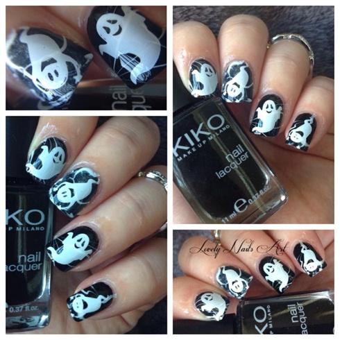 Nail art stamping *fantomes*