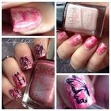 Nail art stamping *papillon*