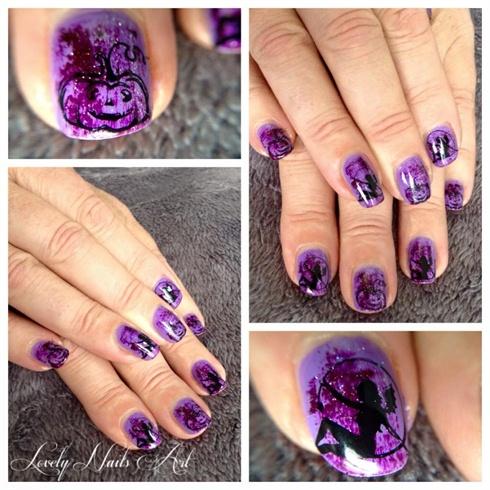 Nail art stamping *halloween*