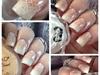 Nail art stamping babyboomer