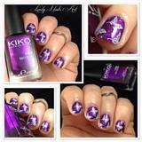 Nail art stamping *papillons*