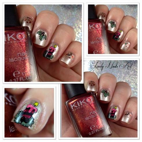 Nail art stamping bougie