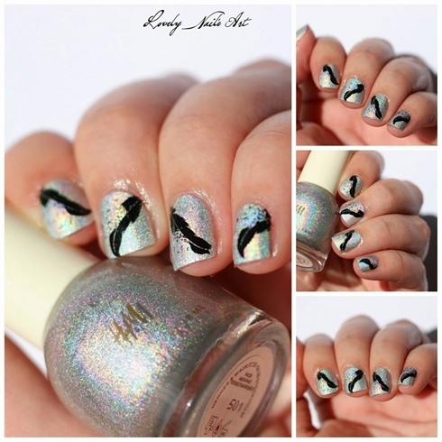 Nail art stamping plume
