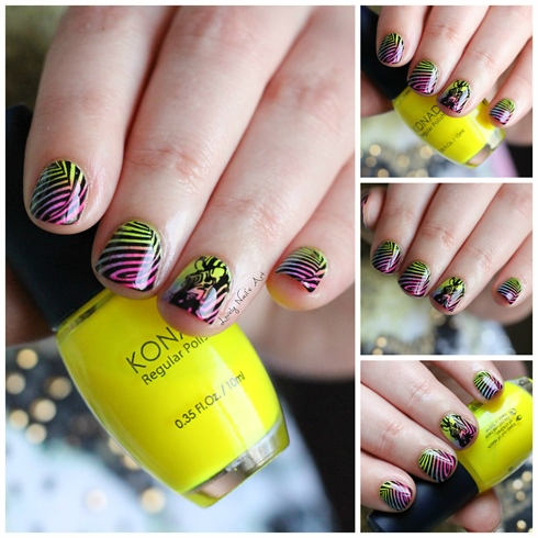 nail art stamping zebre