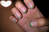 green french , silver zigzag - christmas