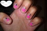 pink hearts , black s-line