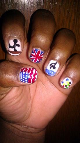 lovelyBUTstrange: 2012 Olympics Nail Art