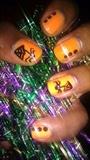 *lovelyBUTstrange* Simple Spider Nails