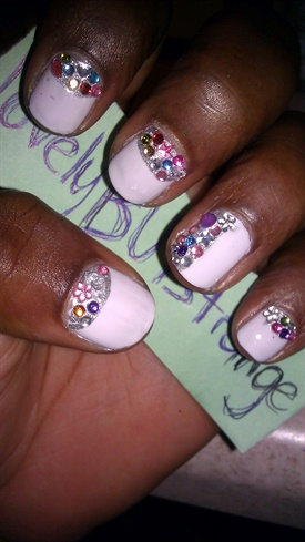 *lovelyBUTstrange* Blinged Party Nails