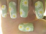 Summery Daisy Nails