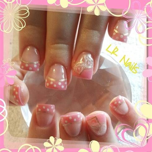 diamond on pink  nail art gallery