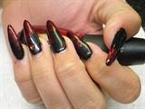Vampy Valentine Nails