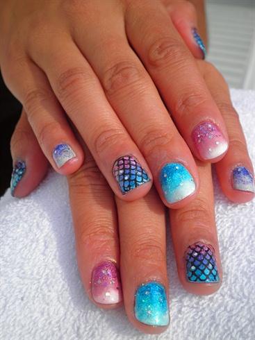 Mermaid Nails Nail Art Gallery