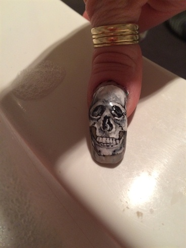 Skull Hand painted
