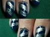 silver garland nails